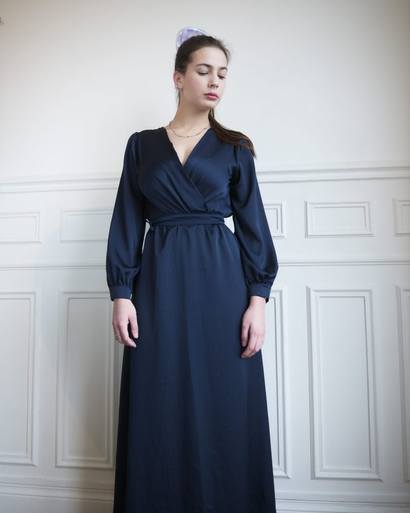 Robe en satin Antonia